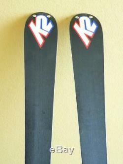 160cm K2 APACHE X All Mountain Skis with SALOMON S710 Adjustable Bindings
