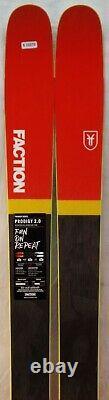 17-18 Faction Prodigy 2.0 New Men's Skis Size 184cm #633370