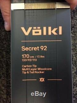 2020 Volkl Secret 92 170cm All Mountain Carving Ski Brand New