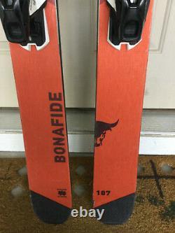 Blizzard Bonafide skis size 187cm with Demo bindings