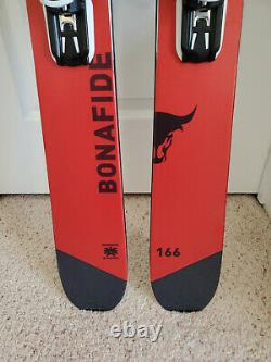 Brand New Blizzard Bonafide skis size 166cm with Warden Demo bindings