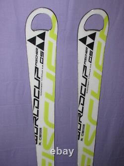 Fischer RC4 World Cup GS Race Code jr kid's racing skis 155cm with race plates