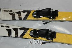 Kids Junior skis Head 117cm + tyrolia Peak 4.5 Bindings size adjustable pair NEW