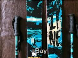 Line Chronic Skis, All Mountain Twin Tip Ski, Look Pivot Bindings with K2 Poles