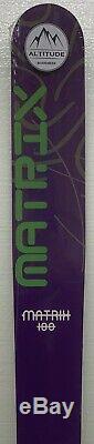 Matrix All Mountain Powder Rocker Snow Skis 180cm 112mm Underfoot Purple