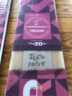 NEW J Skis Freeskier 20th Anniversary Limited Edition Signed The Metal 186cm