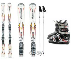 Rossignol Adult Ski Package Skis with bidings, Boots and Poles