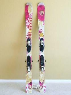 Salomon Lady 153 Freeride All Mountain Skis w Salomon Z10 Adjustable Bindings