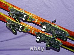 Salomon SCREAM Hot 10P 185cm Skis spaceframe with Sal s912 DEMO Bindings