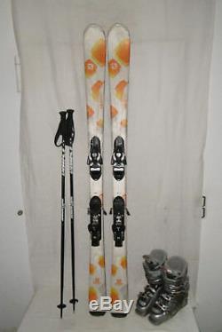 Salomon Ski Sun Top Lady Allmountain Carver 159 CM + Skischuhe Gr39 IM Set