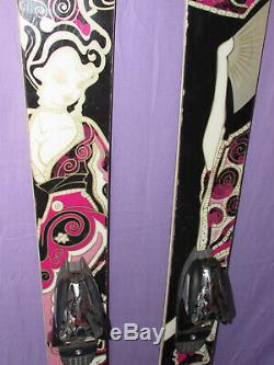 Volkl AURA women's all-mountain powder skis 156cm with Marker FREE 12.0 bindings