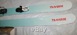 Women's All Mountain powder park Skis 160 cm with bindings set /pair new